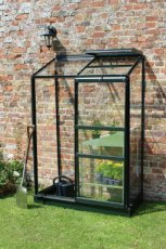 Royal Well Wall Garden 42 Lean-To, groen gecoat - 132cm x 69cm (tuindersglas 3mm)