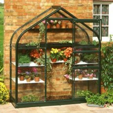 Royal Well Supreme Wall Garden + Fundering, groen gecoat - 193cm x 71cm (tuindersglas 3mm)
